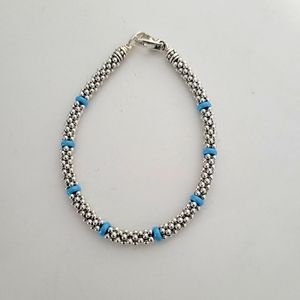 LAGOS Caviar Blue Station Bracelet (M)